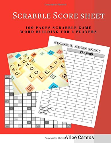 Scrabble Score Sheet For  Player  Pages Scrabble Game Word