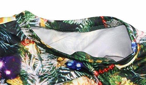 Christmas Dres line Winter Womens Sleeve Digital A Print Jaycargogo Long Maxi 1 qBEAcEF
