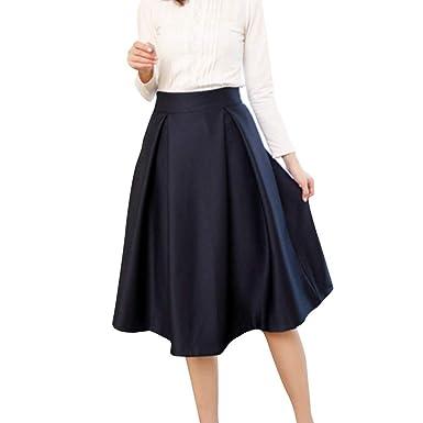 Faldas para Mujer Casual Moda De Falda Verano para Único Mujer ...
