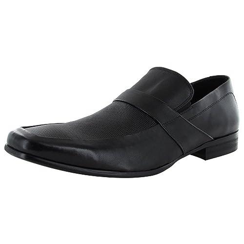 1ea4127b3d7 Steve Madden Mens Hamlet Leather Slip On Loafer Shoe, Black, US 11.5 ...