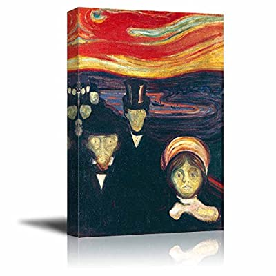 Anxiety by Edvard Munch Print Famous Painting Reproduction...