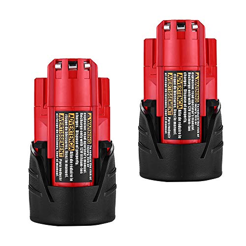 (Batteries for Milwaukee M12 48-11-2401 Replace RED LITHIUM 12-volt 3.0Ah Cordless Tool Battery)