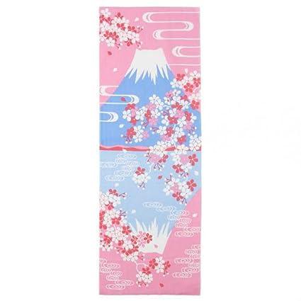 Shinobiya - Toalla de cocina japonesa con soporte para tenugui Fuji