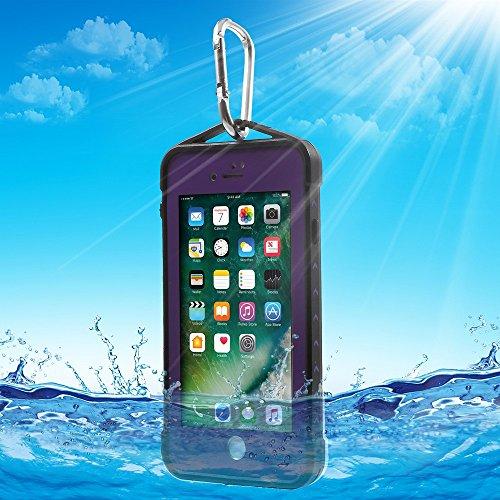 SPIDERTasche Hüllen Schutzhülle Case IP68 Extreme Full-body Diving Underwater Tasche Hüllen Schutzhülle Case für iPhone 7 4.7 inch - lila