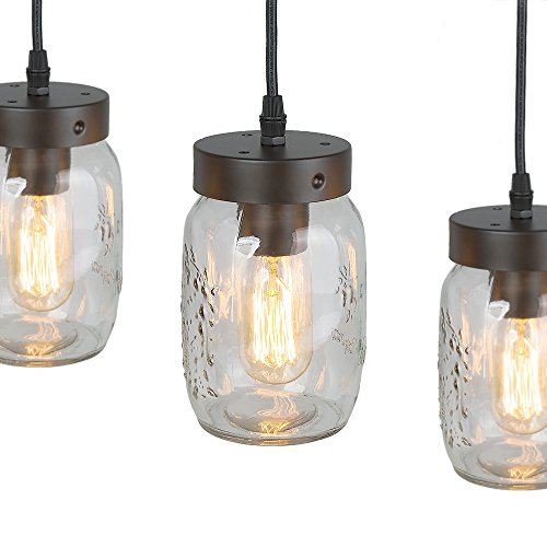 Lnc wood pendant lighting 5 light glass mason jar ceiling lights lnc wood pendant lighting 5 light glass mason aloadofball Image collections