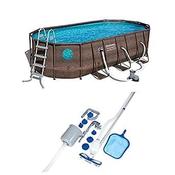 Amazon.com: Bestway Power - Juego de piscina de acero para ...