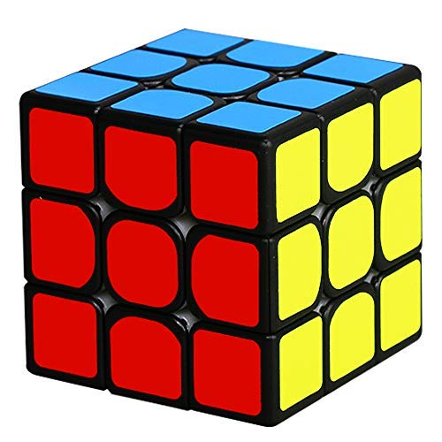 Beyong 3x3 Magnetic Speed Cube 3x3x3 Smooth Magic Cube Sticker Puzzle Black