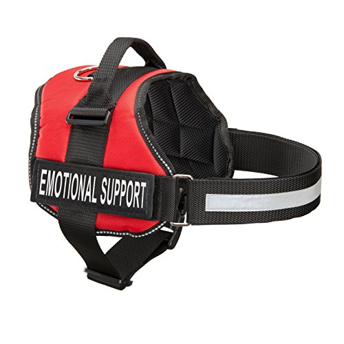 Industrial Puppy Emotional Support Dog Harness With Reflective Straps, Interchangeable Patches, Top Mount Handle | 7 Adjustable Sizes | Heavy Duty - Dog Vest Support