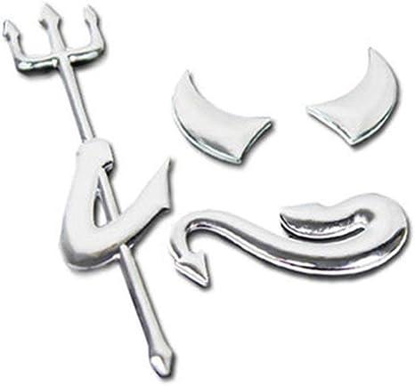 3d Chrom Teufel Logo Aufkleber Für Auto Emblem Pkw Tuning Auch Für Handy Laptop Notebook Pad Und Co Auto