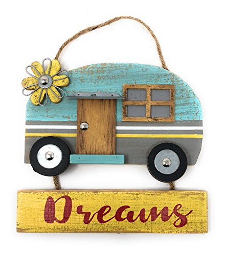 Hang around RV Camper Dreams. Custom Decor door or wall Happy Camper Retro vintage style 8