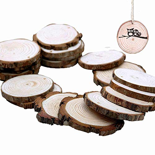 HANBEN Wood Slices with Holes 2.75