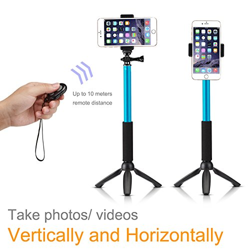 accmor rhythm pro selfie stick extendable handheld monopod with mini tripod stand bluetooth. Black Bedroom Furniture Sets. Home Design Ideas