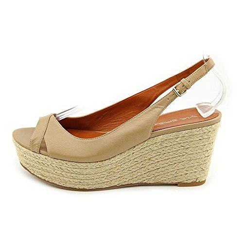 Spiga Leather Via Size Nude Womens 7 Sandals Wedge Shoes UK Luciana wBwU6I4q