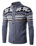 Product review for KLJR-Men Slim Fit Knit Christmas Long-Sleeve Floral Print Cardigan