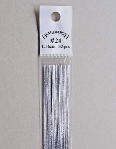 Florist Wire and Sugarcraft Wire Metallic Silver Colour - 24 gauge ...