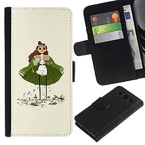 JackGot ( Verde Cabo Princesa Estatuilla Arte de chicas Ojos ) Samsung Galaxy S3 III i9300 i747 la tarjeta de Crédito Slots PU Funda de cuero Monedero caso cubierta de piel
