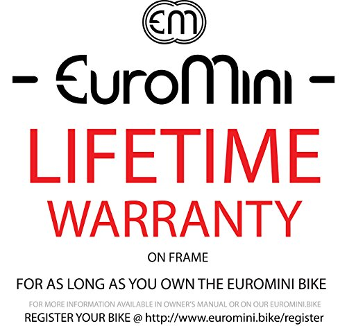 "EuroMini Via 20"" Folding Bike-Lightweight Aluminum Frame Genuine Shimano 7-speed 26lb by EuroMini (Image #2)"