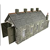 Metcalf OO/HO Scale Engine Shed Stone Built Single Track