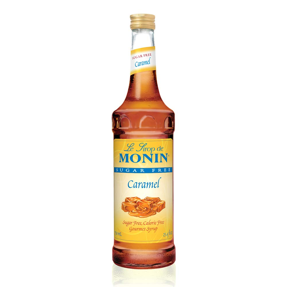 Monin - Sugar Free Caramel Syrup, Mild and Sweet, Great for Coffee and Desserts, Gluten-Free, Non-GMO (750 ml)