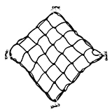 Dovewill Super Stretch 40x40cm Black Bungee Deck Cargo Net for Kayak Canoe Inflatable Boat Fishing
