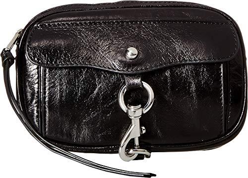 Rebecca Minkoff Women's Maya Belt Bag, Black/Nickel, Small
