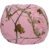 Real Tree Army Fatigues Pattern Made of Cotton and Polyester Bean Bag Chair - Pink, Brown