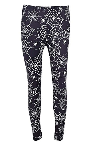 DREAGAL Active Running Pants For Women Black Spiders And Spider Web Leggings XX-large