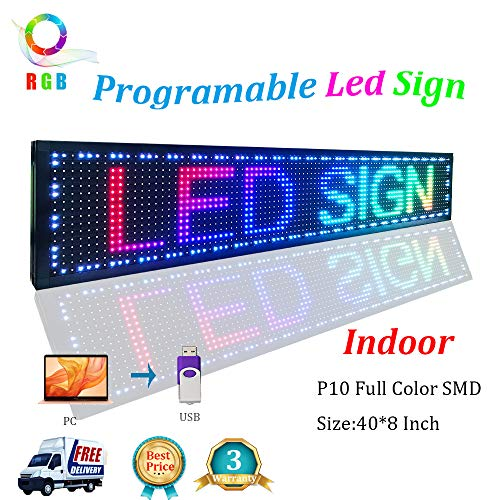 Scrolling LED Signs Full Color SMD PH10mm 40