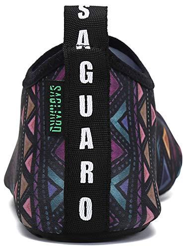 Schwimmschuhe Wassersportschuhe Böhmische 36 Schnell 47 Rutschfest Trocknend Unisex Badeschuhe Saguaro Gr Leicht Violett wtqx4HEt6