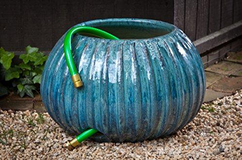 Campania International 150852-1601 Gresham Ribbed Hose Pot, Art Pottery Finish
