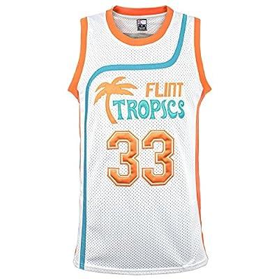 "MOLPE Men's Moon 33"" Flint Tropics Basketball Jersey S-XXXL White"