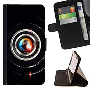 - Colorful Lens Flare Close Up - - Prima caja de la PU billetera de cuero con ranuras para tarjetas, efectivo desmontable correa para l Funny HouseFOR LG G3