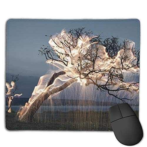 Kim Mittelstaedt Personalized Fire Trees Rectangle Waterproof Material Non-Slip Rubber Gaming Mouse ()
