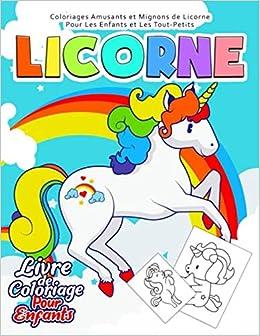 Licorne Livre De Coloriage Pour Enfants 50 Dessins A Colorier De