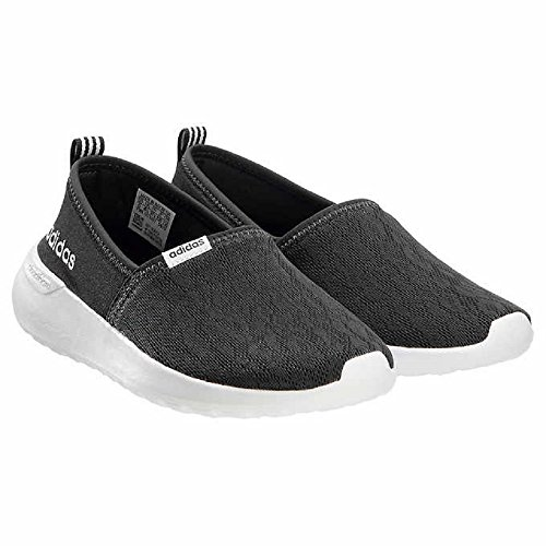 adidas Neo Women's Lite Racer Slip On W Casual Sneaker (7.5 B(M), Black (New Edition))
