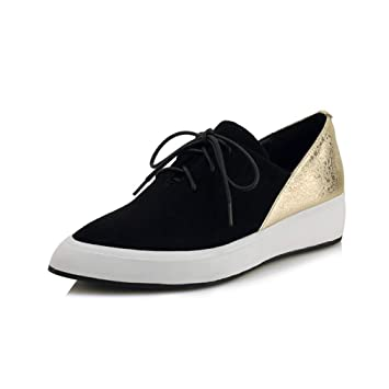 86bff7baf50f7 Amazon.com: YXB Women's Wedge Shoes New Spring Leather Platform ...