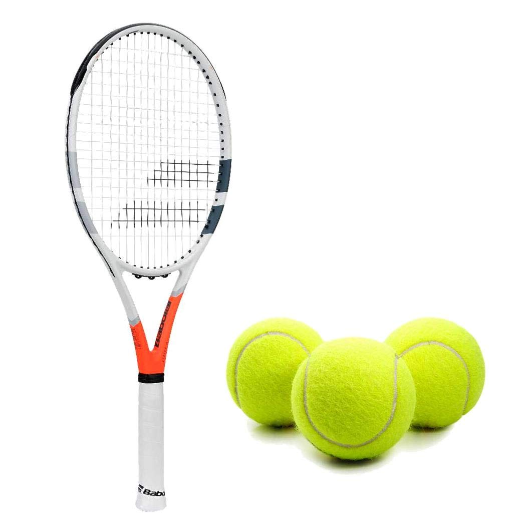 Babolat Strike G (Game) Tennis Racquet (4 3/8'' Inch Grip) Kit or Set Bundled with (1) Can of 3 Tennis Balls (Perfect for Intermediate Players)