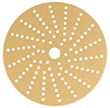 Sunmight 58610 1 Pack 6'' Multi Hole Velcro Disc (Gold Grit 180)