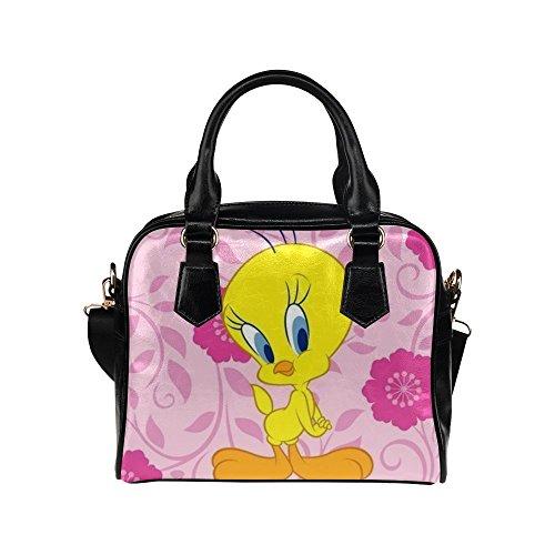 Angelinana Custom Women's Handbag One Tweety Bird Looney Tunes Fashion Shoulder Bag (Tweety Handbag)