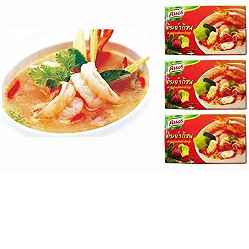 Knorr Tom Yum Seasoning Bouillon Cubes, 24g x 3 box Shrimp Bouillon