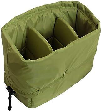 Cámara SLR Impermeable DSLR Grande insertar Acolchado partición bolsa bolsa funda N