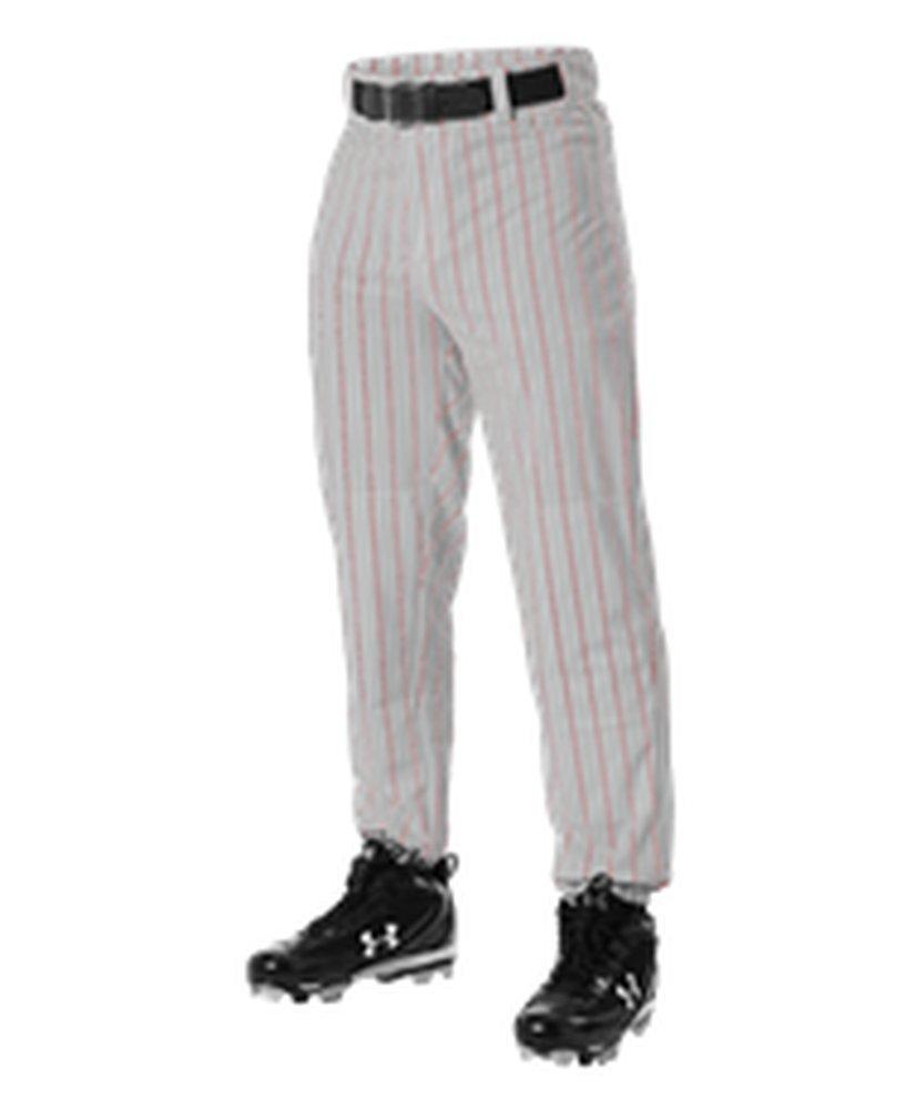 Alleson Athletic PANTS ボーイズ B072R5512G 2X|Grey, Scarlet Grey, Scarlet 2X