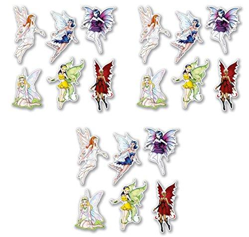 Beistle 54996 Fairy Cutouts 18 Piece, 8.75
