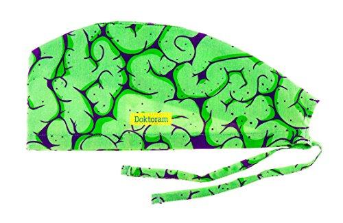 DOKTORAM Surgical Scrub Cap Medical Hat Funny Prints Skull Cap (Brain (Surgical Cap)