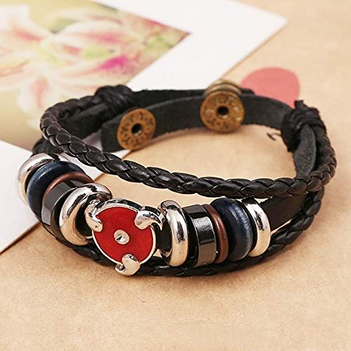 Value-Smart-Toys - Fashion Japanese Anime Bracelet For Teenager Men Women NARUTO Stud Charm Bangle Leather Woven Cuff Bracelet Bead Hand - Bangle Stud
