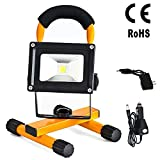 10W Portable Cordless Rechargeable LED Flood Spot Work Light Lamps for Outdoor Camping, Working, Fishing. Waterproof IP65, Security Lights