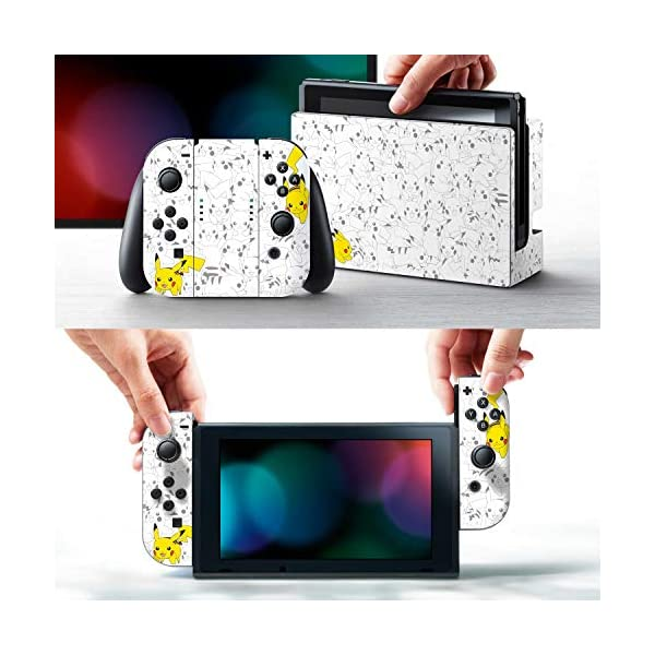 "Controller Gear Officially Licensed Nintendo Pokémon Switch Console Skin ""Pikachu Set 2"" 2"
