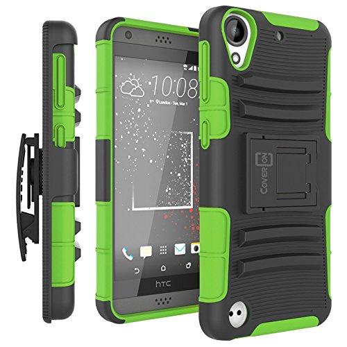 HTC Desire 530 Holster Case, HTC Desire 630 Holster Case, CoverON [Explorer Series] Hybrid Armor Belt Clip Hard Phone Cover for HTC Desire 530 / Desire 630 - Neon Green & Black