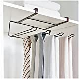 BAMONA Multifunctional Kitchen Bathroom Cabinet Behind Door Shelf Roll Paper Kitchenware Towel Hanging Storage Rack (Bronze)