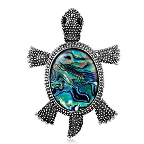 GloryMM Enamel Fleck Tortoise Brooch Pin Turtle Pendant Halloween Creepy Costume Jewelry with Rhinestone Eyes for Women Teen Girl]()